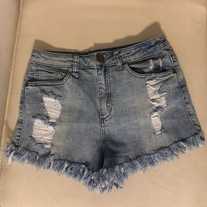Sneak Peek denim shorts